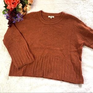 Madewell Aryes Wide Sleeve Rust Orange Pullover